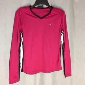 Nike Pink Workout Long Sleeve top Size M